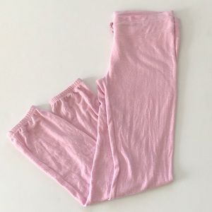 New Wildfox Pink Fleece Jogger Pants